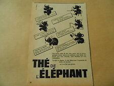1951 Original Thé de l'éléphant une bonne tasse de Thé Print Pub AD