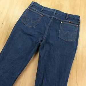 WRANGLER 936DEN cowboy cut slim fit jeans 38x27 (38x30 tag) dark wash denim B