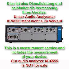 Messungen von Ihrem Ger?t mit dem Audio Precision APx555 Analyzer