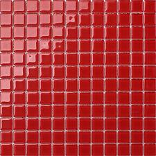 Glasmosaikfliesen 30cm x 30cm Matte Rot (MT0022)