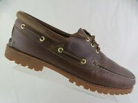 TIMBERLAND Leather Brown Sz 15 M Men Leather Boat Shoes