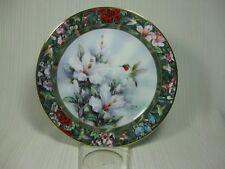 "Lena Liu's ""The Ruby-throated Hummingbird"" Collector Plate #1 GoldTrim Wl George"