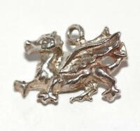 Wales Dragon Sterling Silver Vintage Bracelet Charm With Gift Box 1.9g