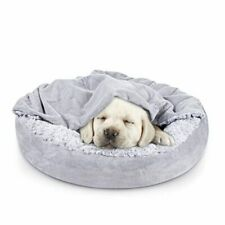 Small Dog Bed Cat Bed with Hooded Blanket, Cozy Cuddler Medium (Pack of 1)