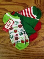 NWT 3 Pack Women's Holiday Time Socks Shoe Sz 4- 10 Red Green White No Show