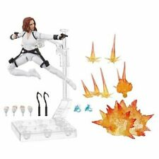 Black Widow Marvel Legends 6 Inch White Costume Action Figure W/ Stand In Stock