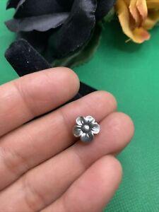 retired james avery sterling silver flower blossom single post earring