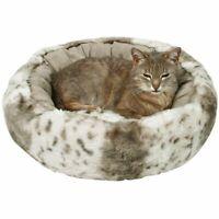 Trixie Leika Cuddly Dog Cat Bed Beige/White, 50 cm
