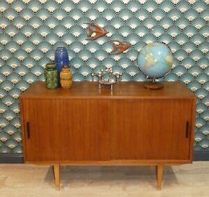 kleines edles 60er Jahre Sideboard 120cm Teak Anrichte mid century retro vintage