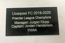 Jurgen Klopp & Jordan Henderson - Big Engraved Plaque for Signed LFC Memorabilia