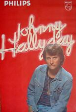 JOHNNY HALLYDAY French 1976 music record poster 31x45.5 VERY RARE Mint