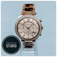 Michael Kors Parker Womans Watch MK5538 Rose Gold Tortoiseshell Wristwatch