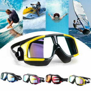 Adult Large Vision UV Sun Protection Swimming Goggles Anti-fog Swim Mask Glasses