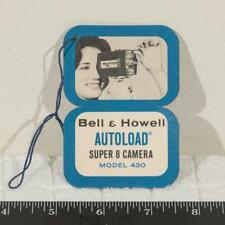 Vintage Bell & Howell Super 8mm Camera Product Card 1960's g25