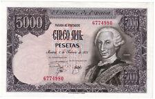 ESPAÑA 5000 pesetas 1976 SIN SERIE - CARLOS III  S/C