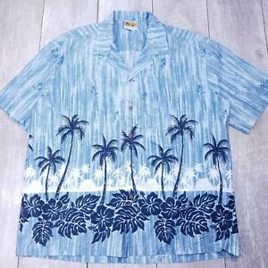 Winnie Fashion Aloha Hawaiian Button Up Mens XXL 2XL Coastal Short Sleeve SB11