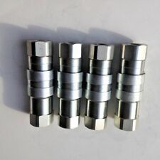 34 Npt Flat Face Coupling Hydraulic Quick Disconnect Iso 16028 4 Sets