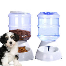 2Pcs Automatic Pet Food Drink Dispenser Dog Cat Feeder Water Bowl Dish 3.5L UK