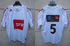 Maillot football porté n°5 COUPE de FRANCE blanc ADIDAS shirt trikot SFR S