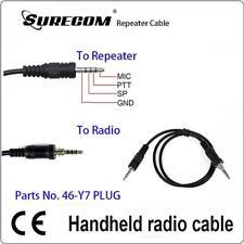 2pcs Repeater Controller Cable for YAESU VX-7R Y7 plug 1 pin 117329