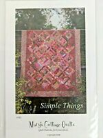 """Simple Things by Mary's Cottage Quilts #152 10""""x10"""" Block Finished Quilt 64""""x77"""""""