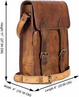 VERY UNIQUE Men's Vintage Leather Laptop Backpack Rucksack Messenger Bag Satchel