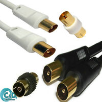 1m to 20m Coax Aerial Cable RF TV Coaxial Extension Male Female Digital Lead