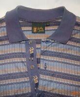 Bobby Jones Mens Striped Golf Polo Shirt  Large