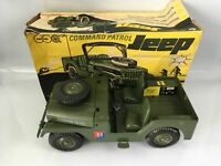 "RARE MARX ACTION MAN COMMAND PATROL JEEP BOXED SCALED FOR 11"" ACTION FIGURE TOY"