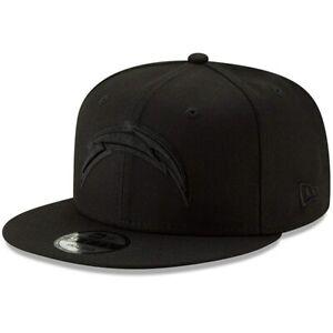 New Era Los Angeles Chargers 9Fifty Black & Black Logo Field Snapback Hat NFL