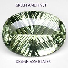 GREEN AMETHYST 12x10 MM OVAL CONCAVE CUT  AAA  ALL NATURAL