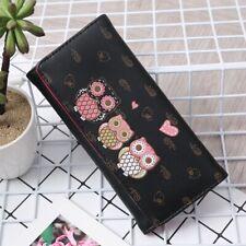 Fashion Women Girls Lady Cartoon Owl Pattern Coin Money Bag Purse Wallet
