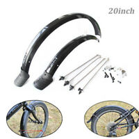 "20"" Folding Bike Front Rear Mudguard Fender Durable Cycling Mud Guards Set 1Pair"