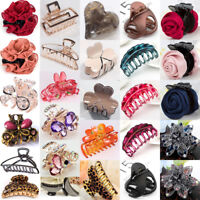 Women Girl Flower Crystal Plastic Hair Clip Clips Claw Comb Accessories Headwear
