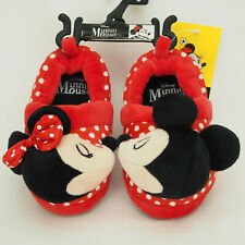 Disney Slippers Red Mickey & Minnie Mouse Toddlers Size Choose 5/6, 7/8, or 9/10
