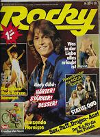 Rocky Nr.6 vom 2.2.1978 mit Riesenposter Status quo, John Wayne, Sex Pistols...