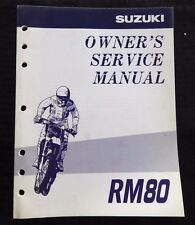 GENUINE 1997 1998 SUZUKI 80 RM80 MOTORCYCLE OWNER'S SERVICE MANUAL VERY CLEAN