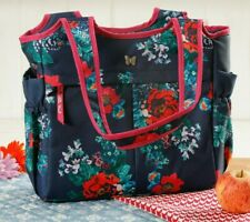 Pioneer Woman Large Country Garden Floral Insulated Lunch Tote Bag NEW Navy Blue