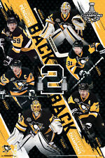 Pittsburgh Penguins 2017 Stanley Cup BACK-2-BACK CHAMPIONS Commemorative POSTER