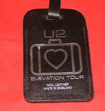 Rare U2 2001 Elevation Tour Leather Luggage Tag