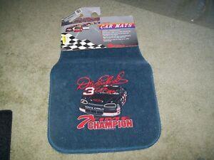 VINTAGE NASCAR DALE EARNHARDT FLOOR CAR MATS 7 TIME CHAMPION fits most CARS VAN