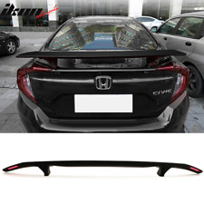 Universal Fitment Trunk Spoiler Deck Wing With 2 Posts & Led Turn Signal Light(Fits: Acura Integra)