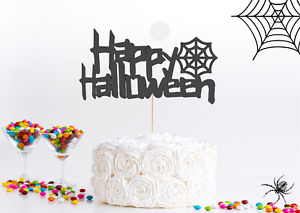 Halloween Cake Topper Happy Halloween Owner Cake Decoration Spider ghost spooky