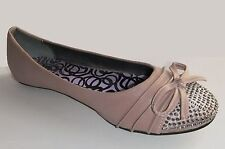 BOLARO by SUMMER RIO Designer Rose-Beige Leather Studded Ballet Flats/Shoes, 8.5