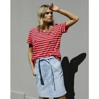 NEW LADIES BETTY BASICS SEQUIN CARA TEE, TOP, STRIPES, RED,  WHITE SIZE 6-18