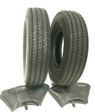 4.10-6 (4.10/3.50-6) 4 ply Sawtooth Tires with Tubes - 2 Tires MADE IN USA
