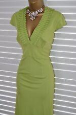 ~ ~ Karen Millen impresionante Verde Lima equipada vacaciones de Boda Vestido talla 14