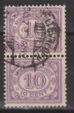 Nederlands Indie Netherlands Indies 114 pair CANCEL WELTEVREDEN Cijfer 1912