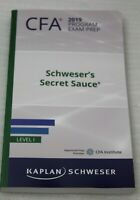 Kaplan Schweser CFA 2019 Program Exam Prep Schweser's Secret Sauce Level I NEU