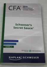 Kaplan Schweser CFA 2019 Program Exam Prep Schweser's Secret Sauce Level I NEW